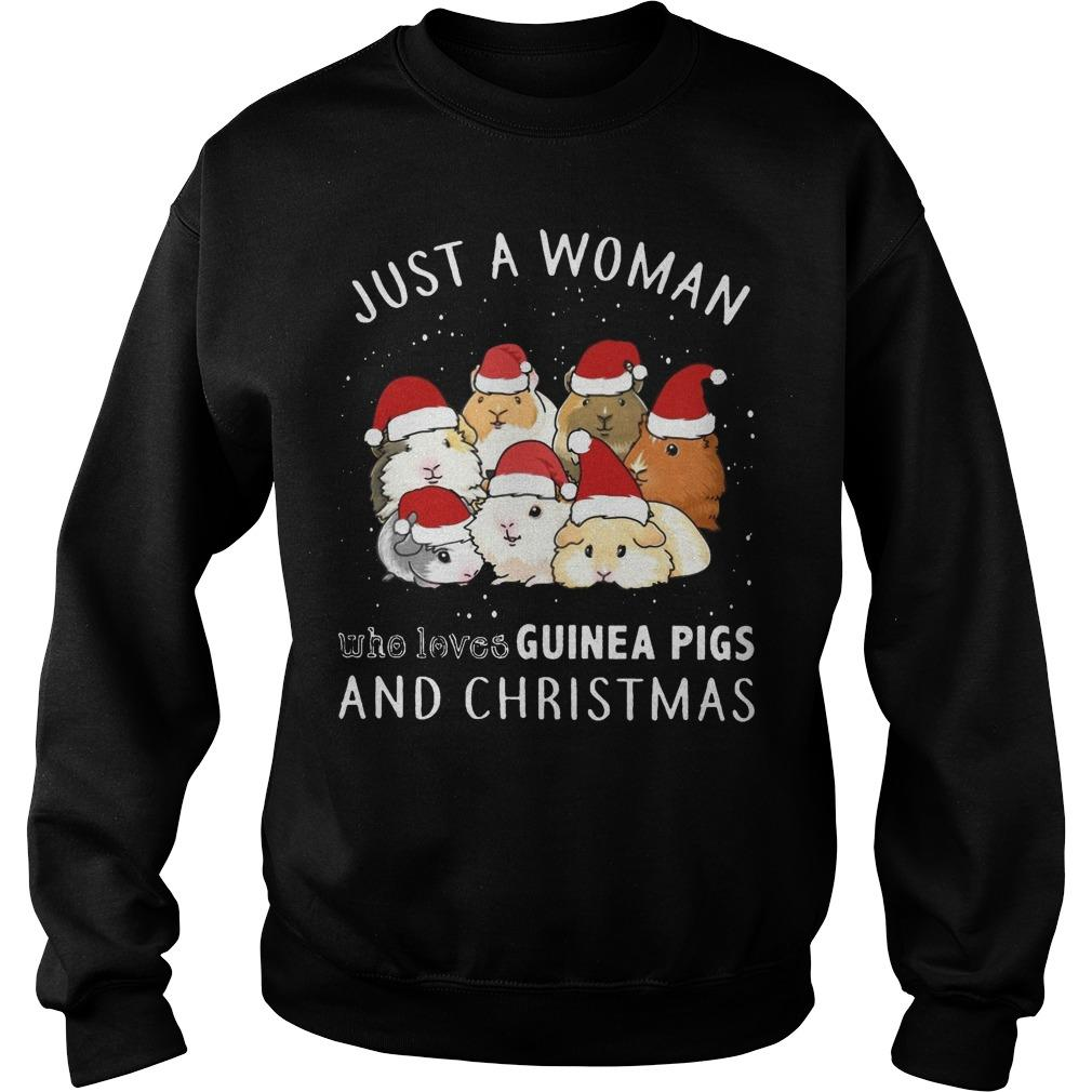 Just A Woman Who Loves Guinea Pigs And Christmas Sweater