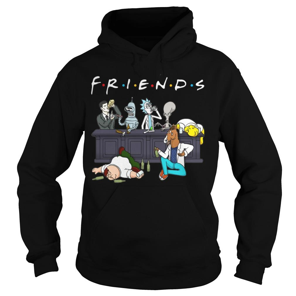 Rick And Morty Friends Tv Show Hoodie