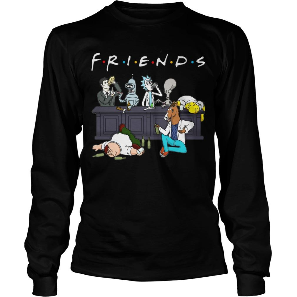 Rick And Morty Friends Tv Show Longsleeve