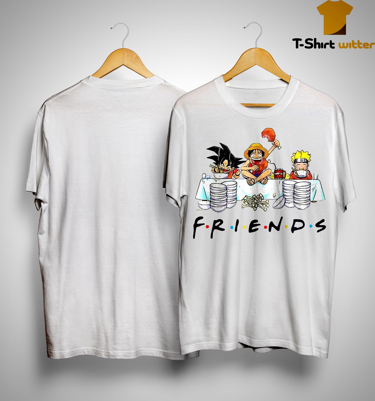Songoku Luffy And Naruto Friends Shirt