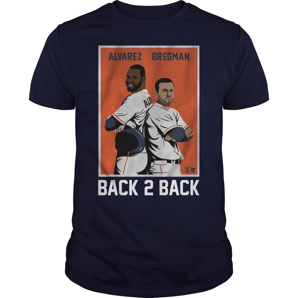 Yordan Alvarez Alex Bregman Back 2 Back Shirt