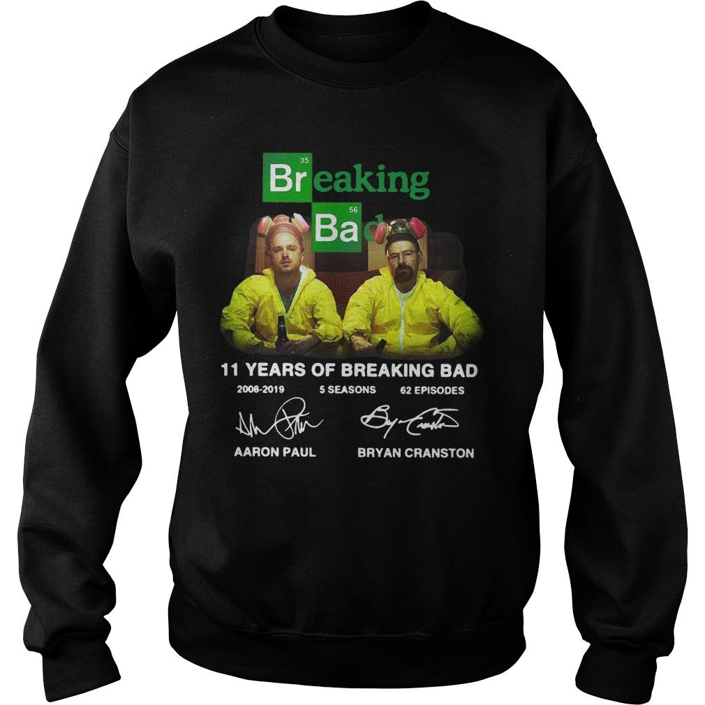 11 Years Of Breaking Bad 2008 2019 5 Seasons 62 Episodes Signatures Sweater