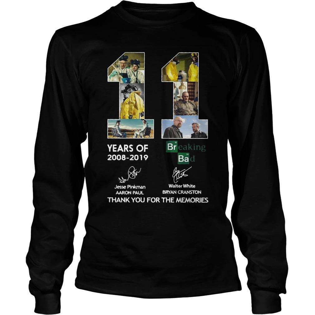 11 Years Of Breaking Bad Thank You For The Memories Signatures Longsleeve