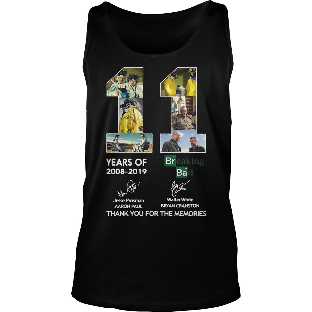 11 Years Of Breaking Bad Thank You For The Memories Signatures Tank Top