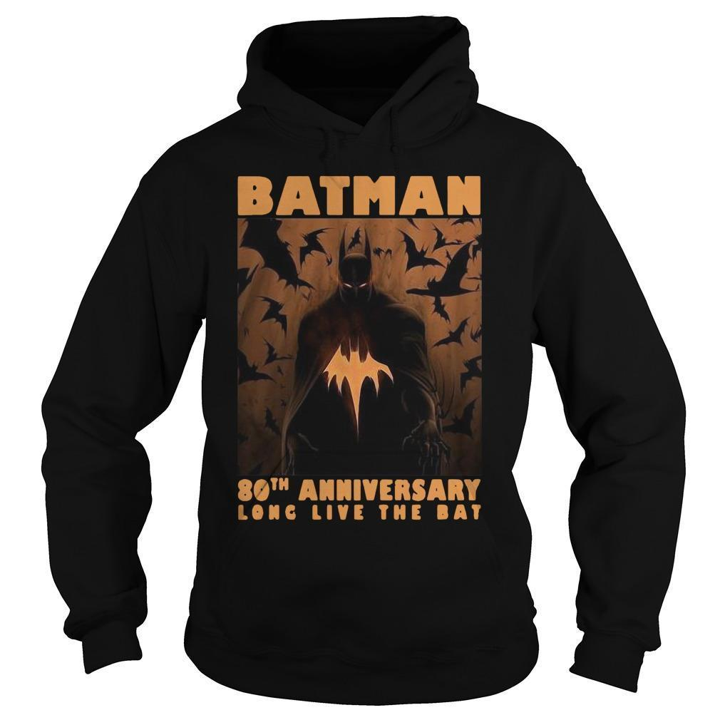 Batman 80th Anniversary Long Live The Bat Hoodie