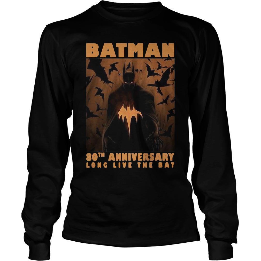 Batman 80th Anniversary Long Live The Bat Longsleeve