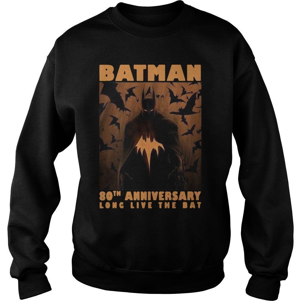 Batman 80th Anniversary Long Live The Bat Sweater