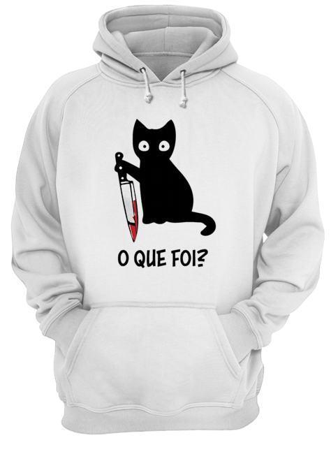 Black Cat O Que Foi Hoodie