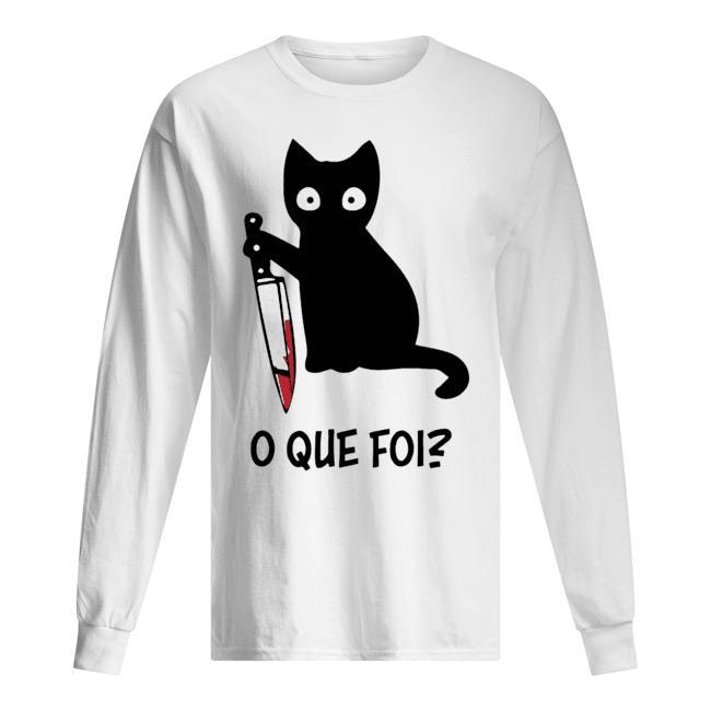 Black Cat O Que Foi Longsleeve