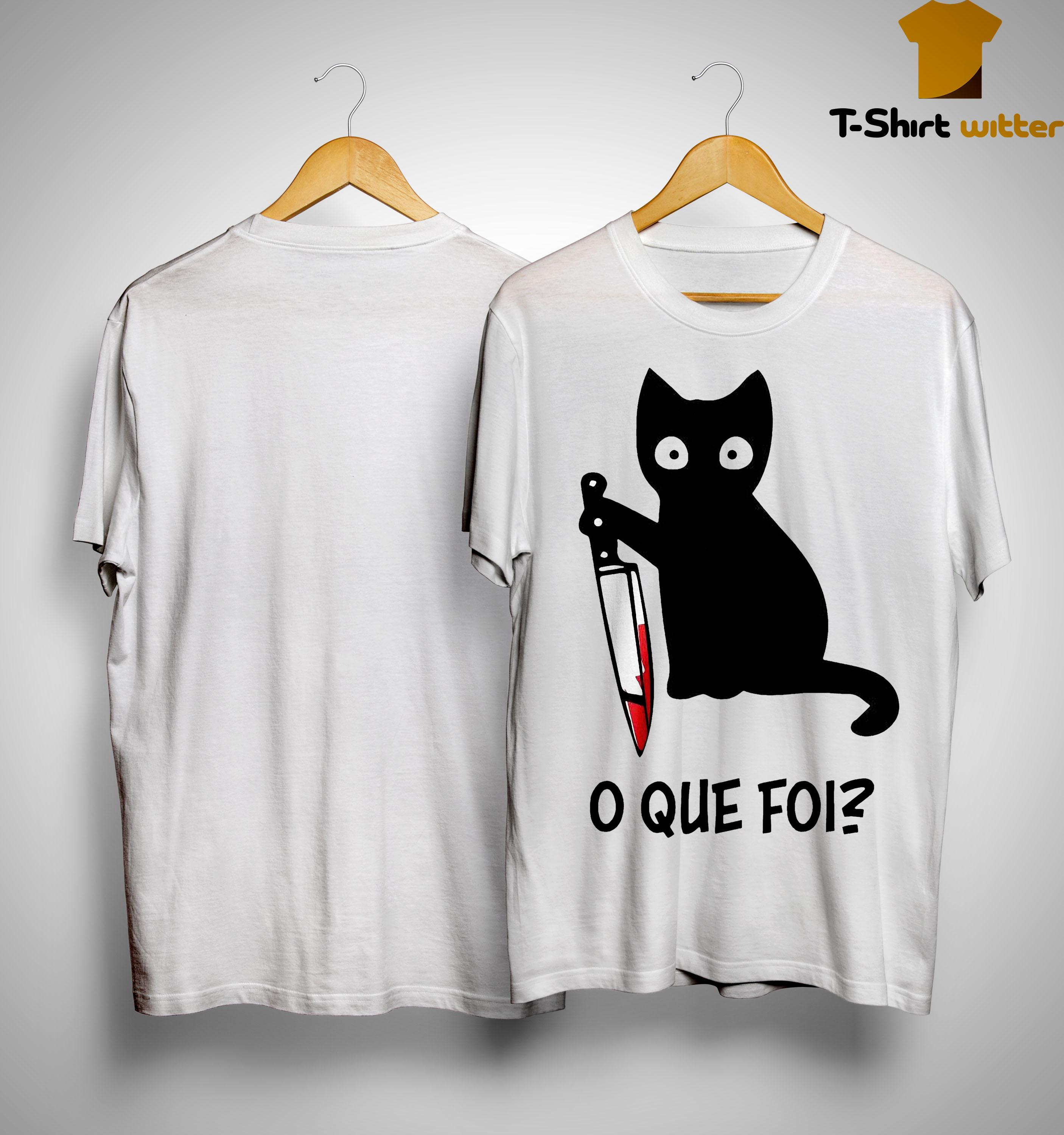 Black Cat O Que Foi Shirt