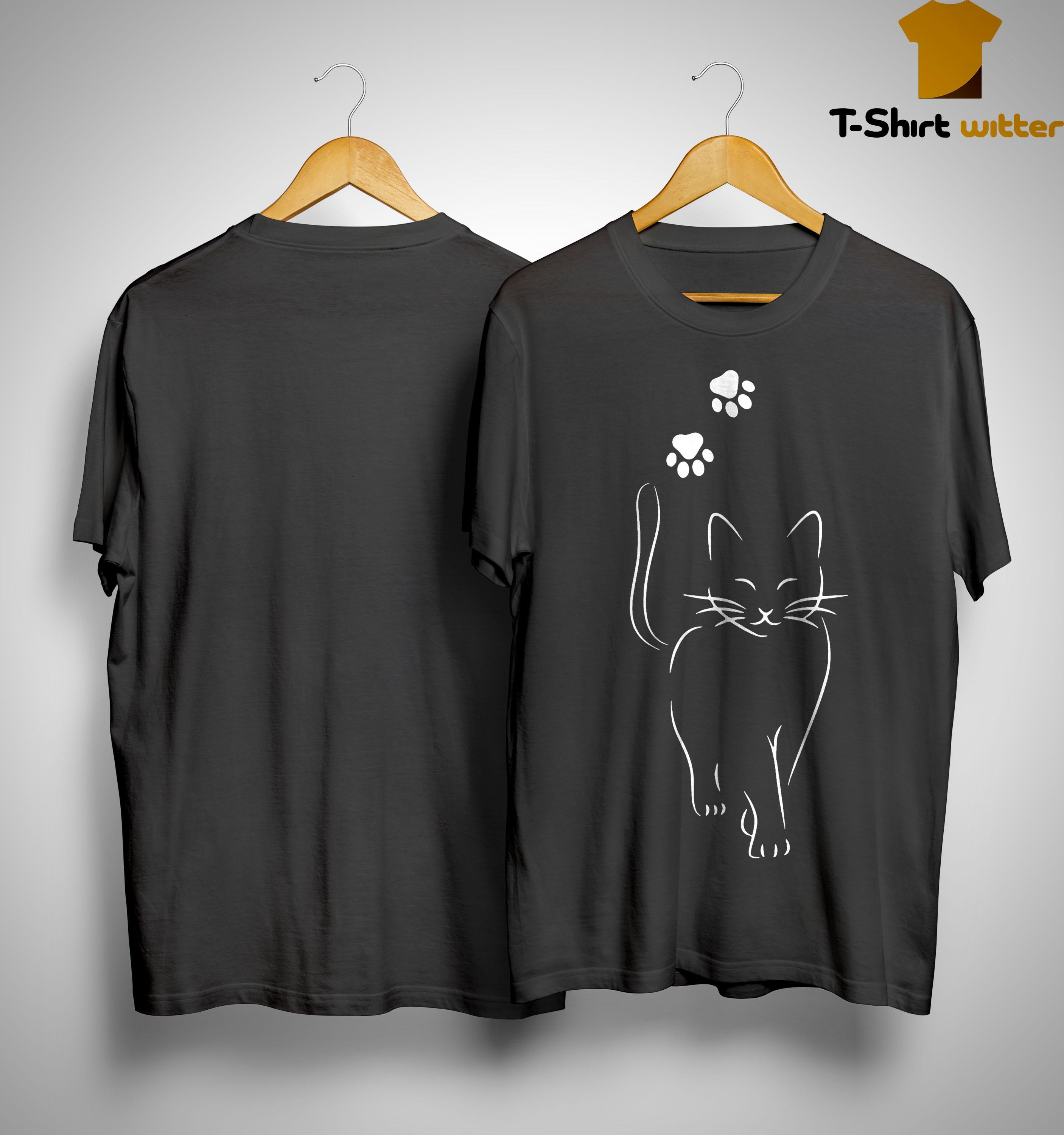 Cat Going And Paws Shirt