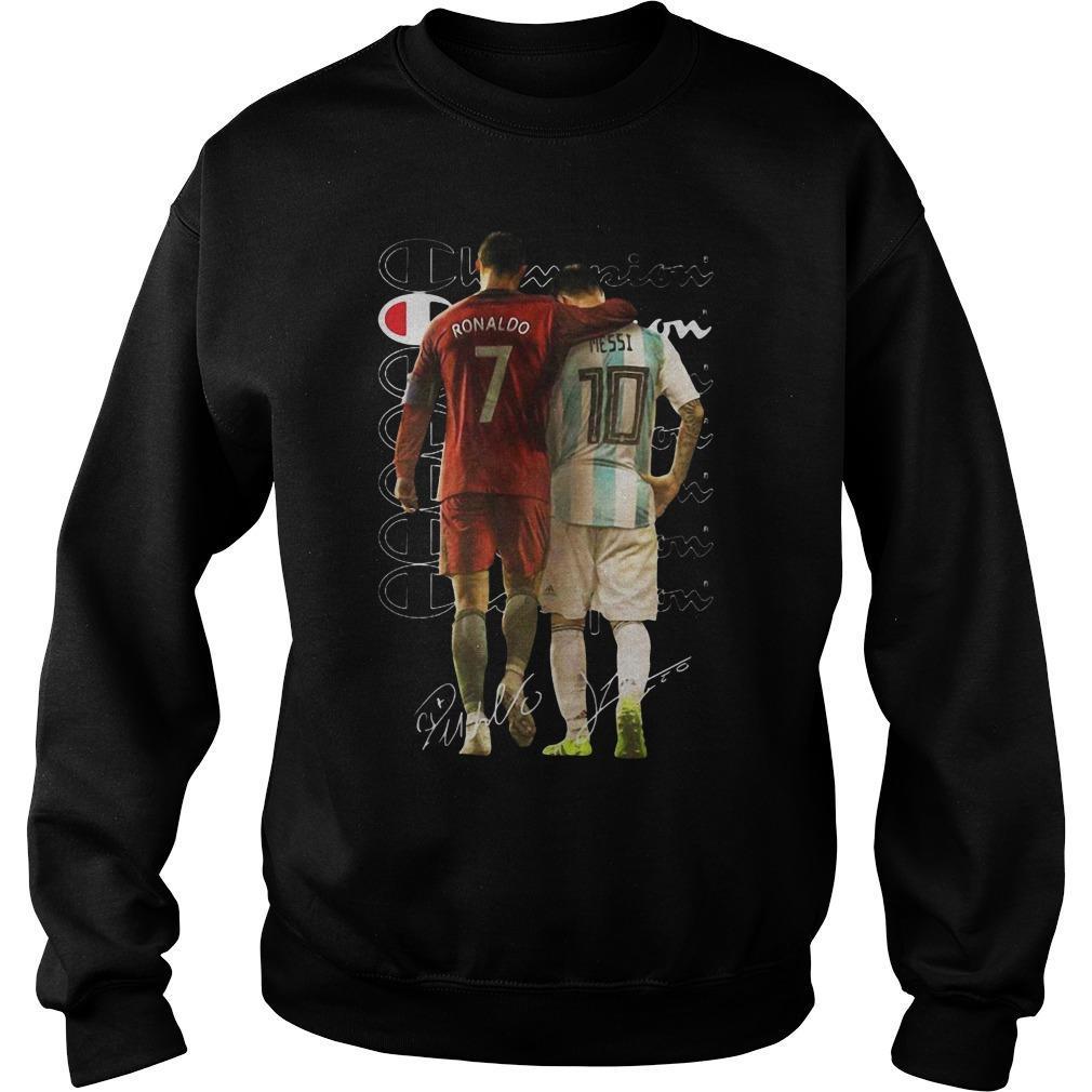 Champion Cristiano Ronaldo Lionel Messi Signatures Sweater