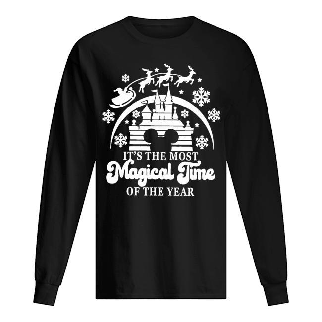 Christmas Disney It's The Most Magical Time Of The Year Longsleeve