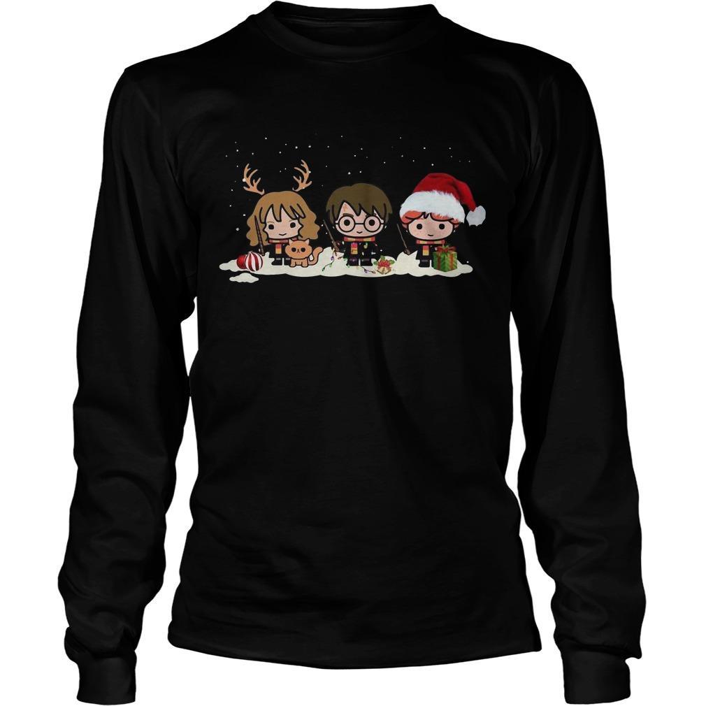 Christmas Harry Potter Hermione Granger Ron Weasley Longsleeve
