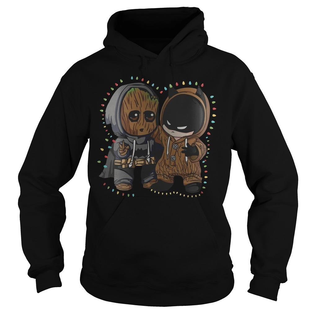 Christmas Lights Baby Groot Batman Friend Hoodie