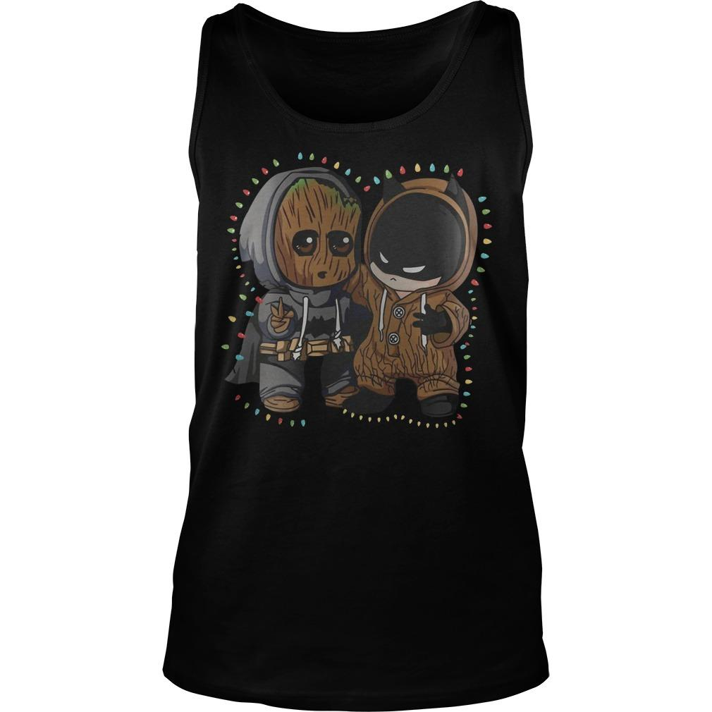 Christmas Lights Baby Groot Batman Friend Tank Top