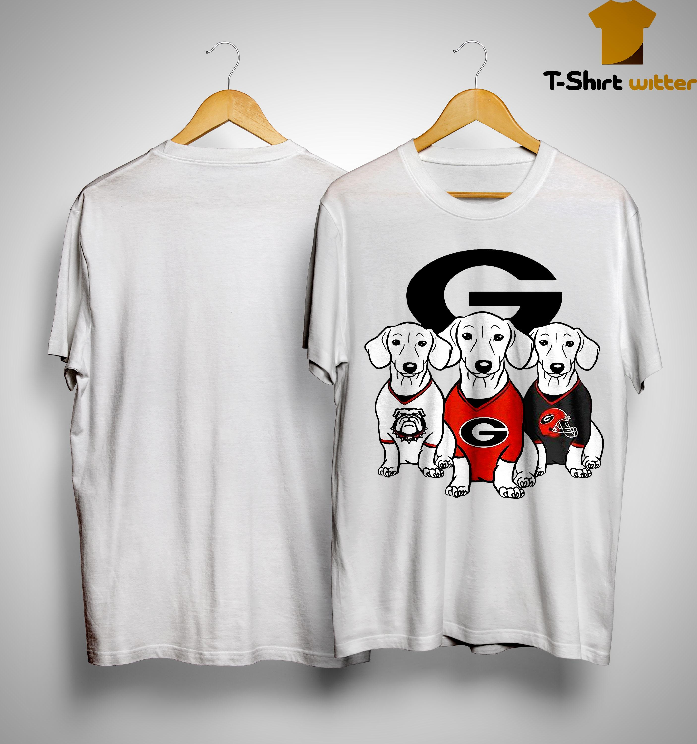 Dachshund Georgia Bulldogs Shirt