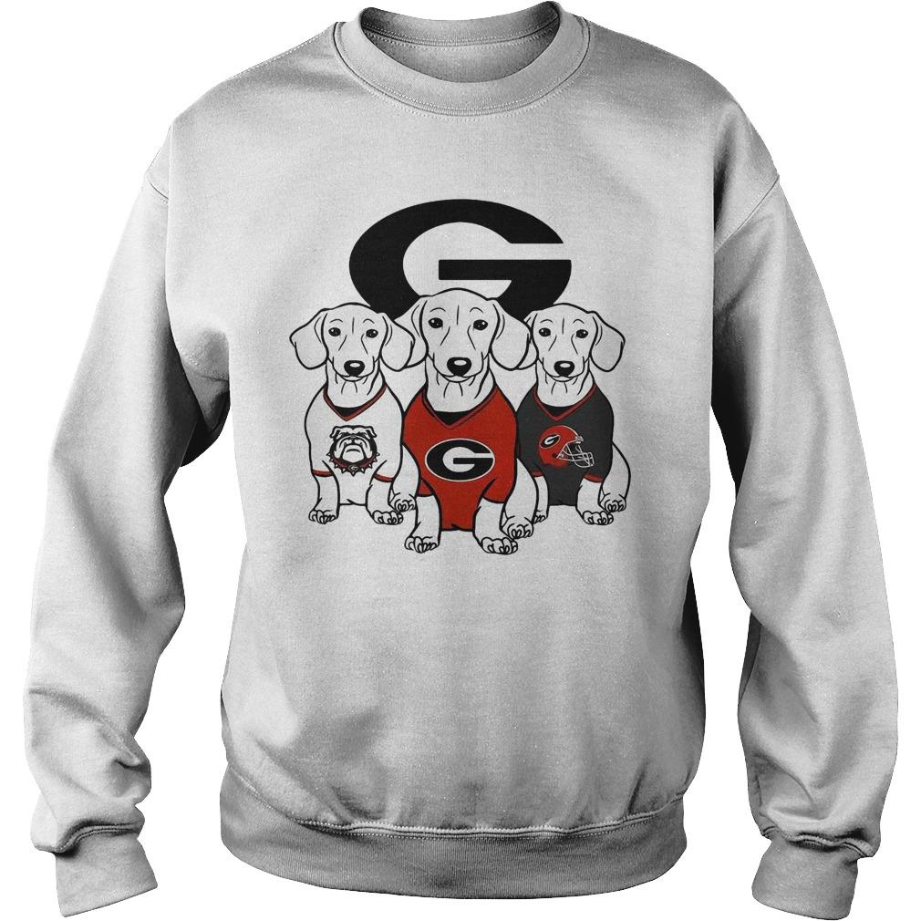 Dachshund Georgia Bulldogs Sweater