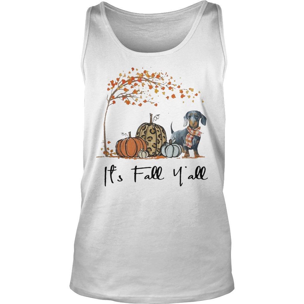 Dachshund It's Fall Y'all Tank Top