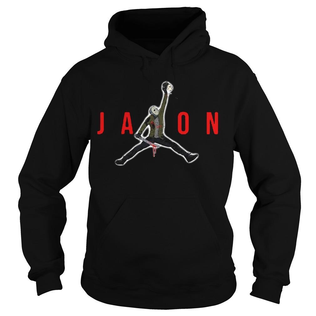 Halloween Air Jordan Jason Voorhees Hoodie