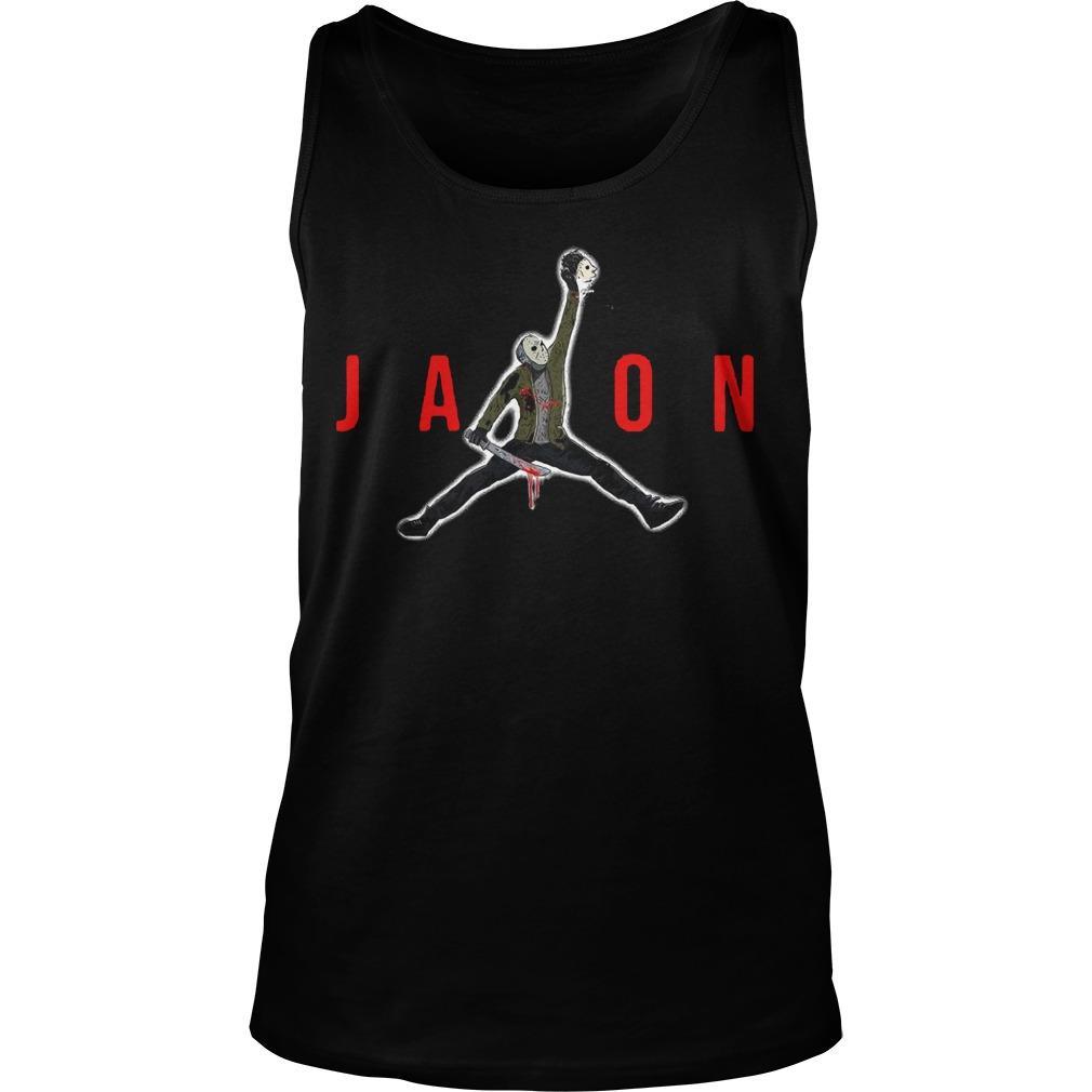 Halloween Air Jordan Jason Voorhees Tank Top