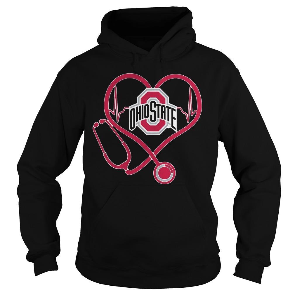 Heartbeat Nurse Love Ohio State Hoodie