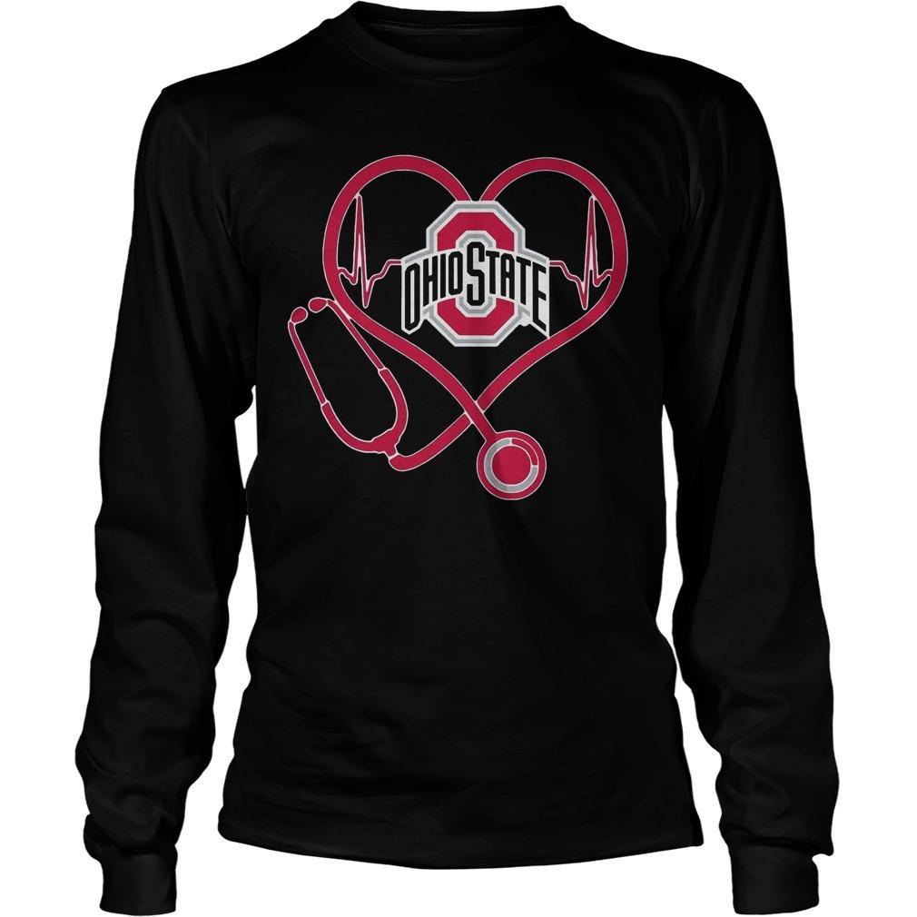 Heartbeat Nurse Love Ohio State Longsleeve