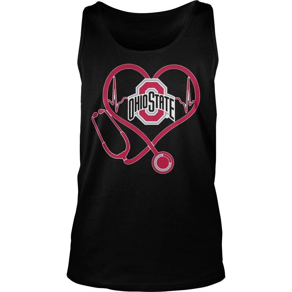 Heartbeat Nurse Love Ohio State Tank Top