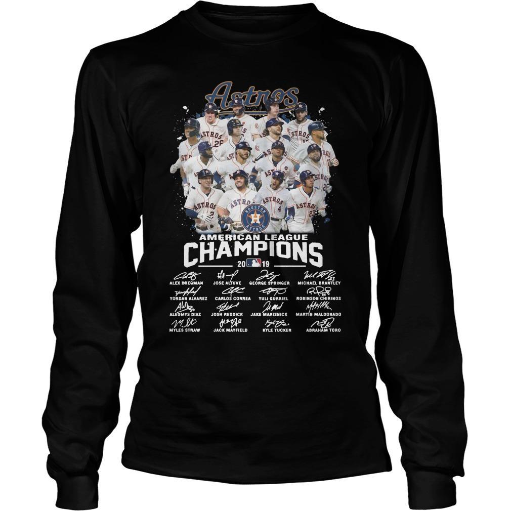 Houston Astros American League Champions 2019 Signatures Longsleeve