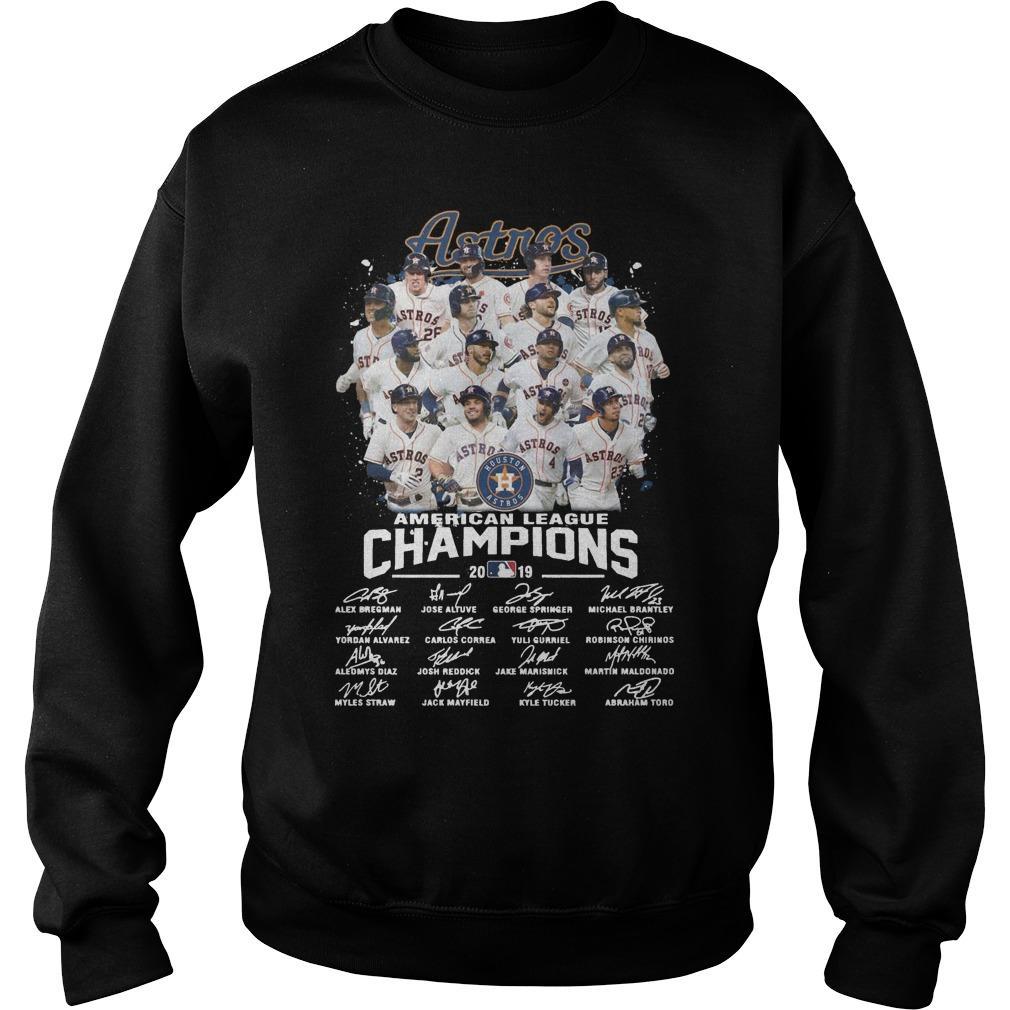 Houston Astros American League Champions 2019 Signatures Sweater