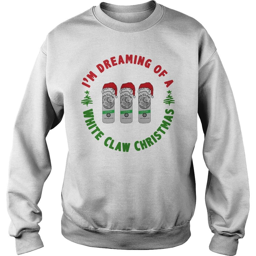 I'm Dreaming Of A White Claw Christmas Sweater