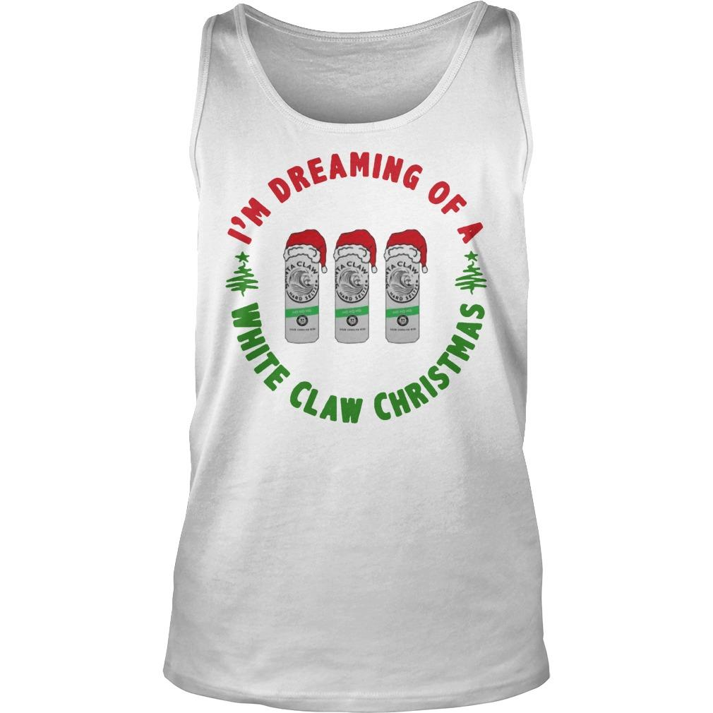 I'm Dreaming Of A White Claw Christmas Tank Top