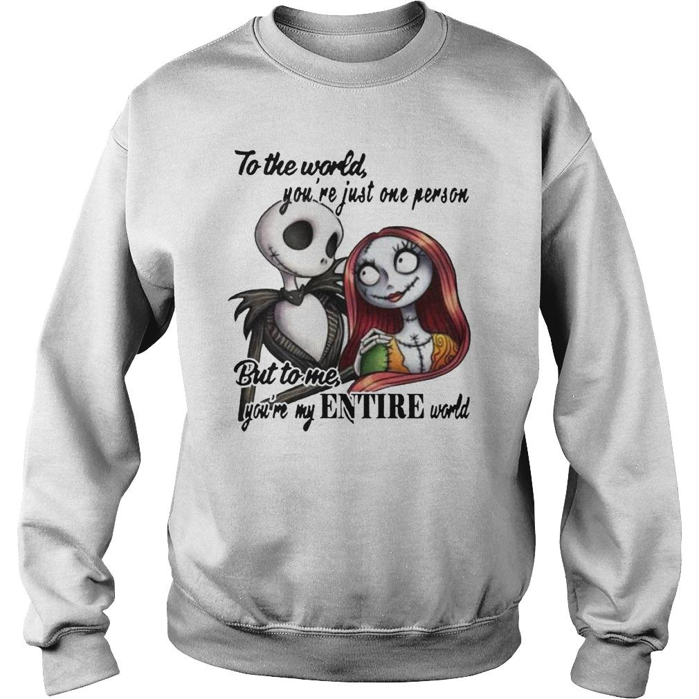 Jack Skellington And Sally To The World You're Just One Person Sweater