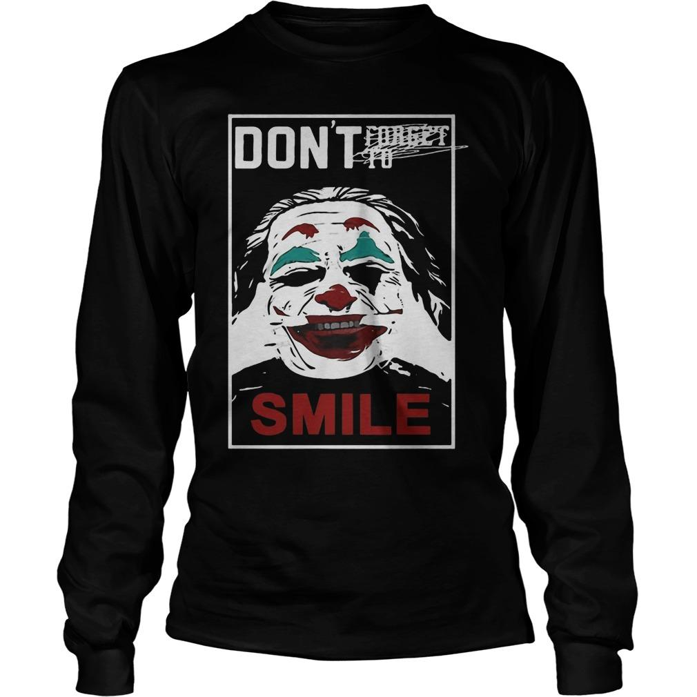 Joker Don't Forget To Smile Longsleeve