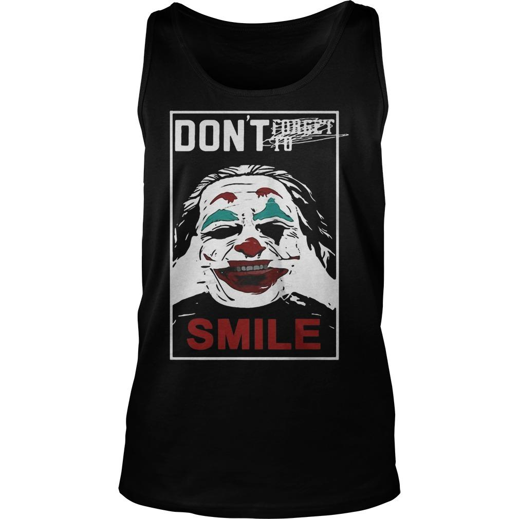 Joker Don't Forget To Smile Tank Top