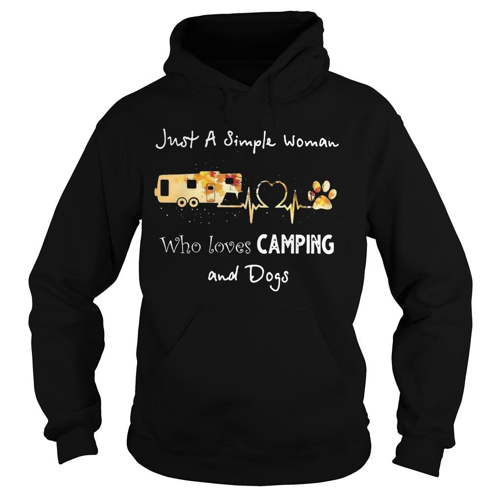 Just A Simple Woman Who Loves Camping And Dogs Hoodie