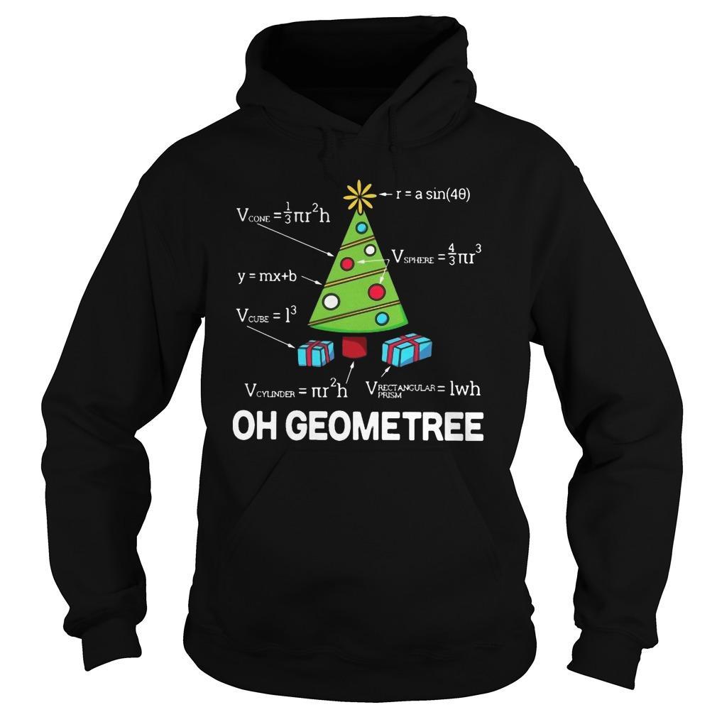 Math Oh Geometree Christmas Tree Hoodie