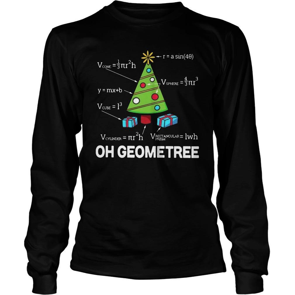 Math Oh Geometree Christmas Tree Longsleeve