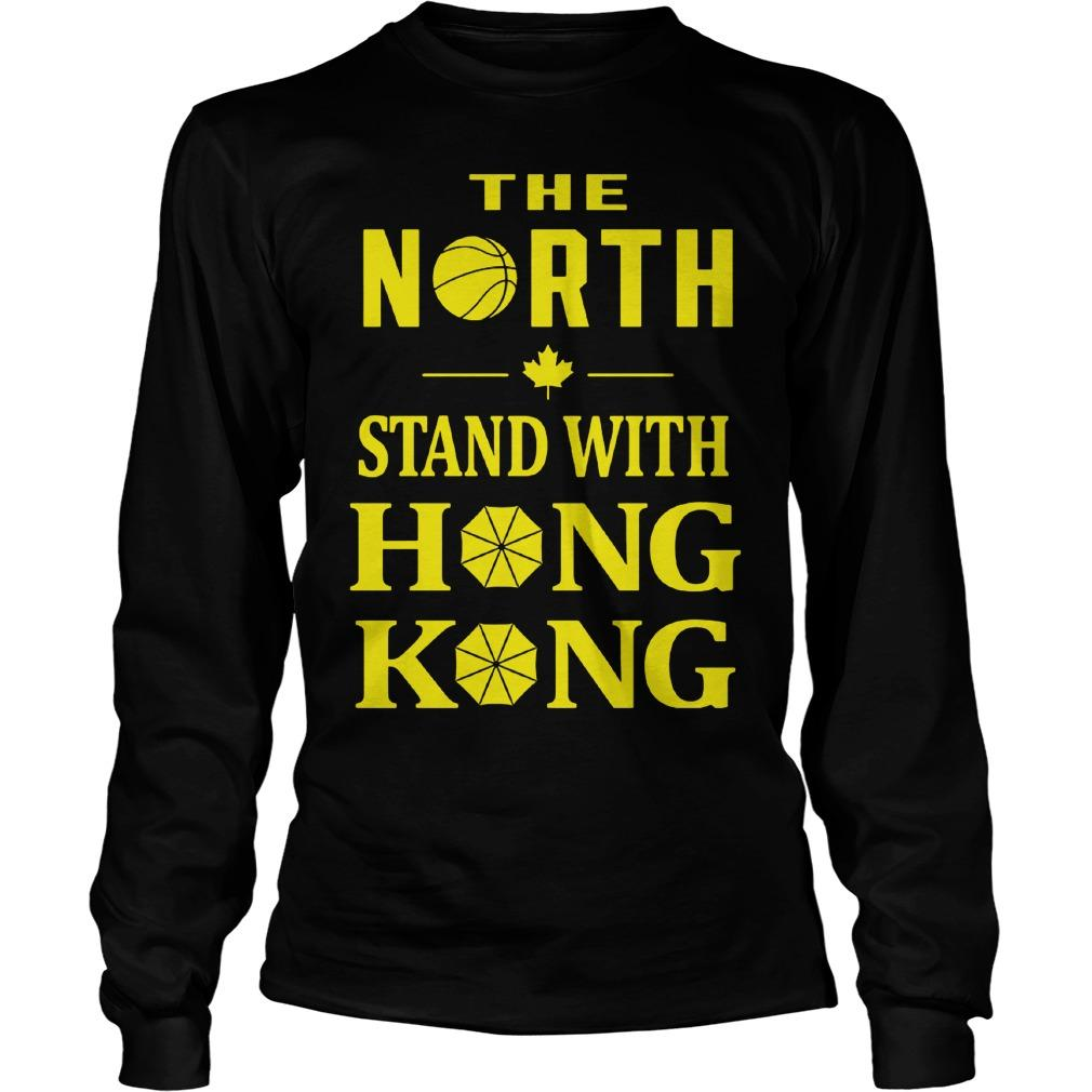 Raptors The North Stand With Hong Kong Longsleeve