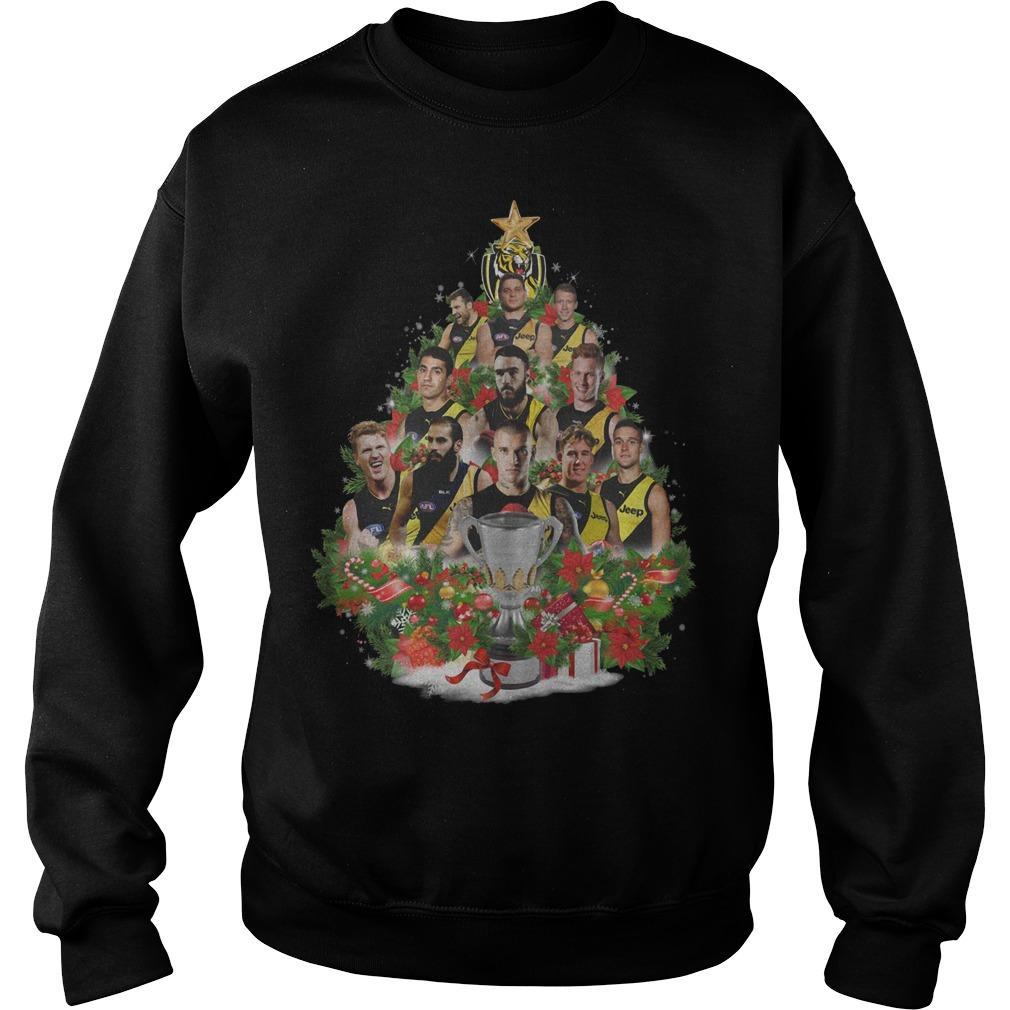Richmond Tigers Christmas Tree Sweater