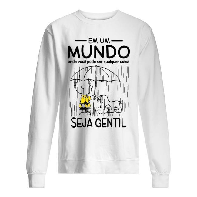 Snoopy And Charlie Em Um Mundo Onde Voce Pode Ser Qualquer Coisa Sweater