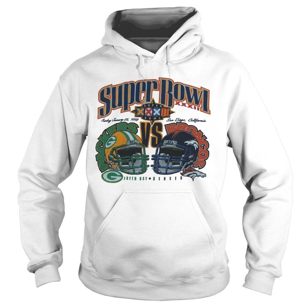 Super Bowl Green Bay Packers Vs Broncos Denver Hoodie