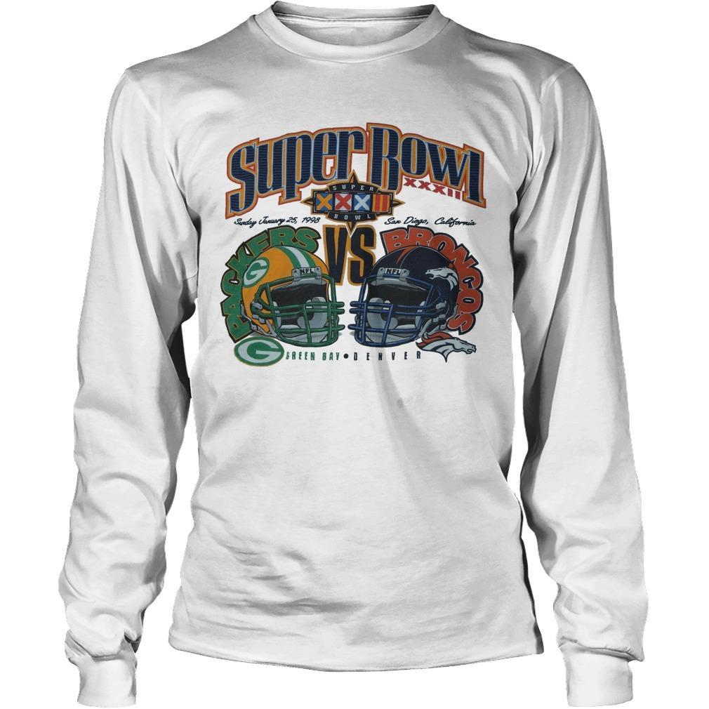 Super Bowl Green Bay Packers Vs Broncos Denver Longsleeve