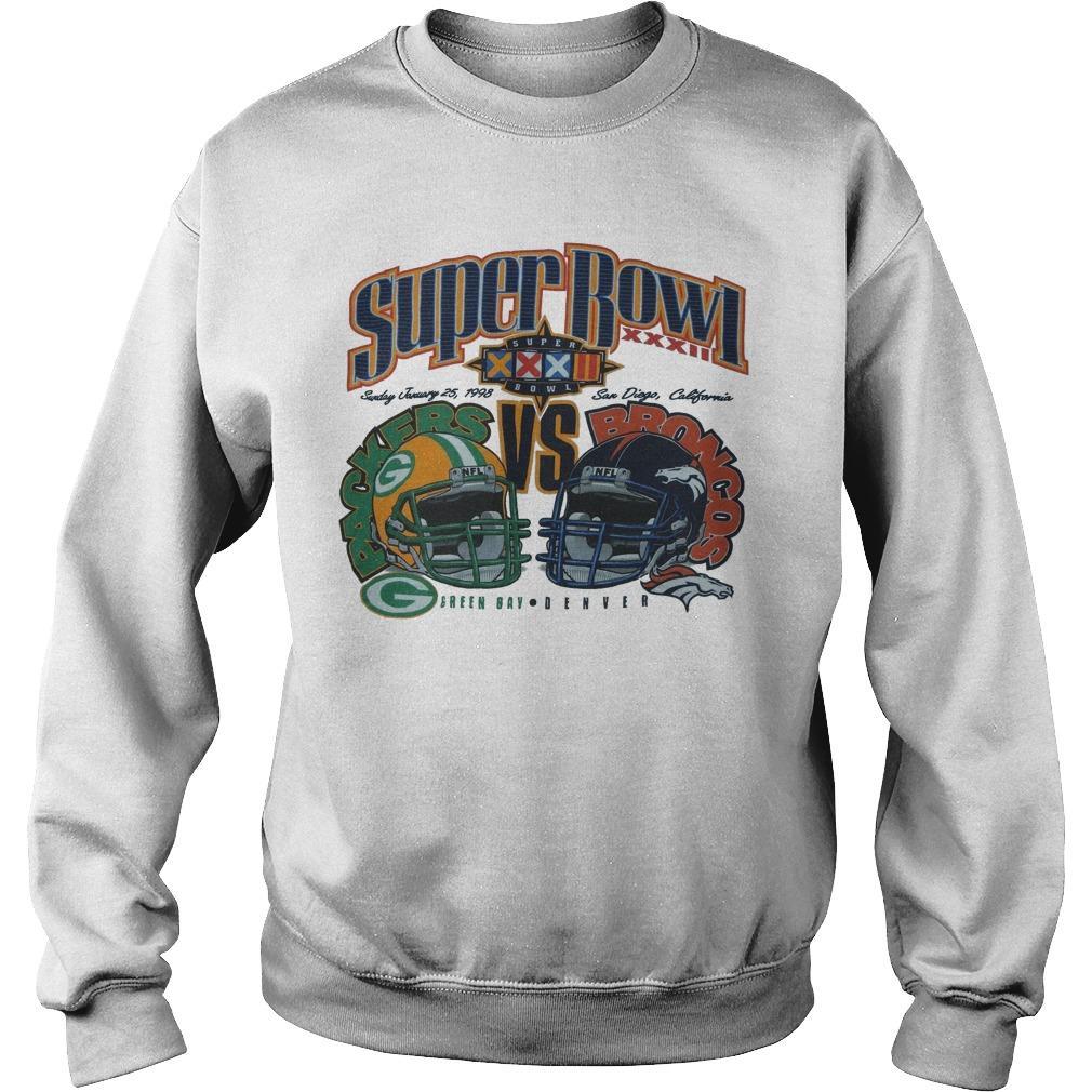 Super Bowl Green Bay Packers Vs Broncos Denver Sweater