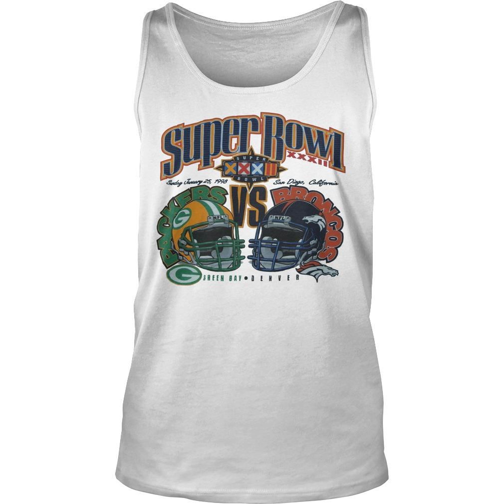 Super Bowl Green Bay Packers Vs Broncos Denver Tank Top