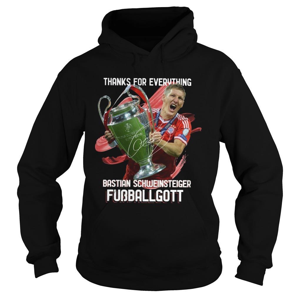 Thanks For Everything Bastian Schweinsteiger Fubballgott Hoodie