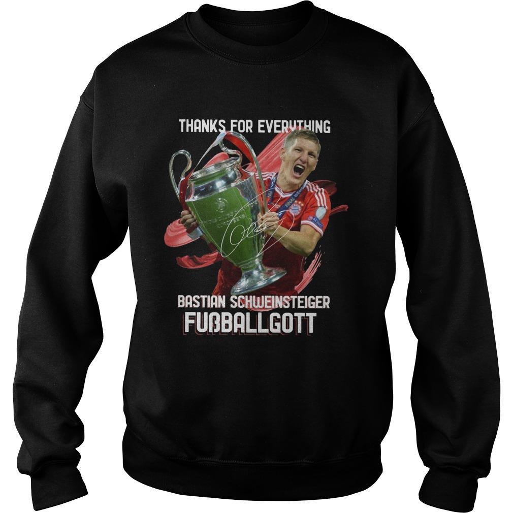 Thanks For Everything Bastian Schweinsteiger Fubballgott Sweater