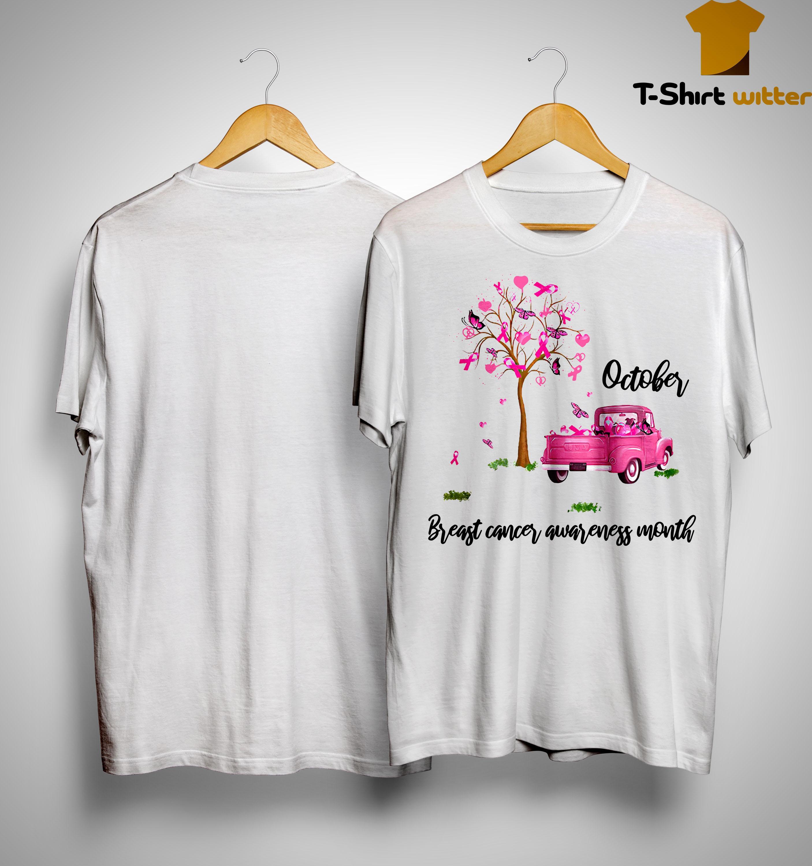 Truck October Breast Cancer Awareness Month Shirt