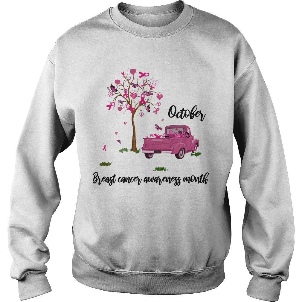 Truck October Breast Cancer Awareness Month Sweater