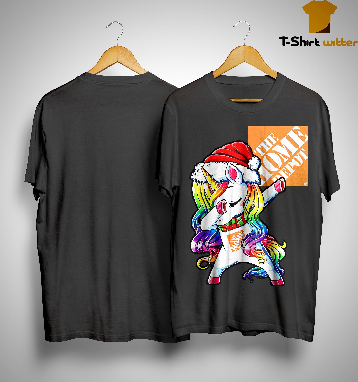 Unicorn Dabbing The Home Depot Shirt